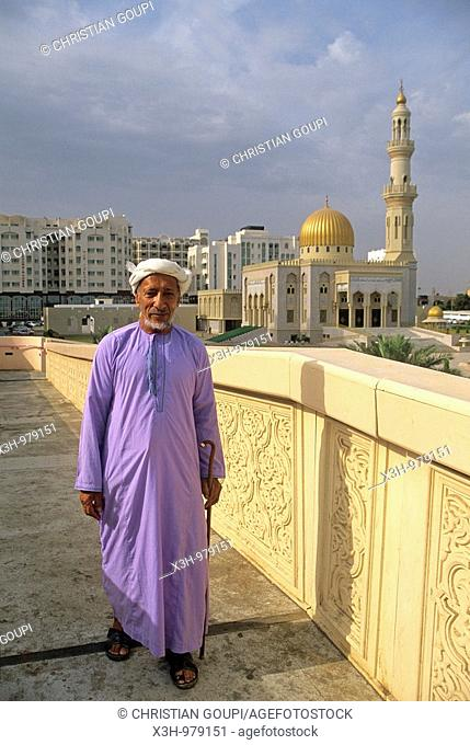 man near the Azzawawi Mosque,Muscat,Sultanate of Oman,Arabian Peninsula,Asia