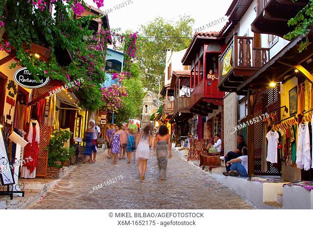 Street view  Kas  Antalya province, mediterranean coast  Turkey