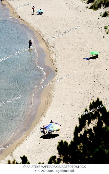 Voidokilia beach just north of Yialova and Pylos on the Messinian coast Southern Peloponnese Greece