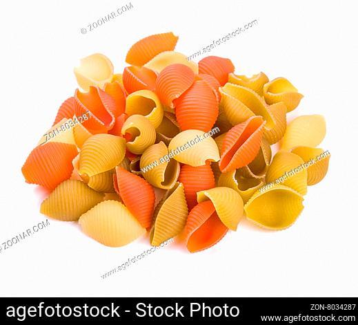Pasta isolated on white background