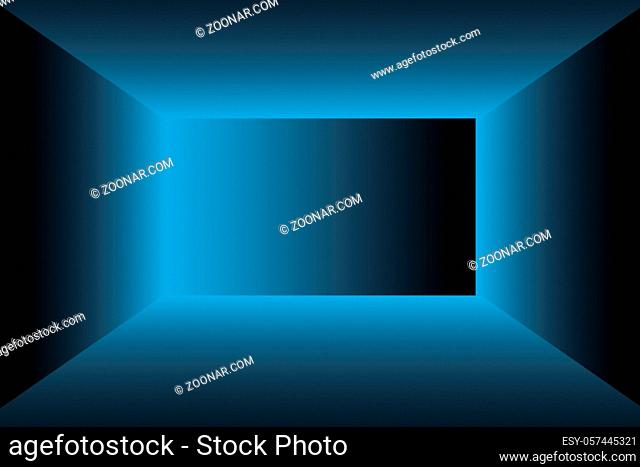 Abstract Luxury gradient Blue background. Smooth Dark blue with Black vignette Studio Banner