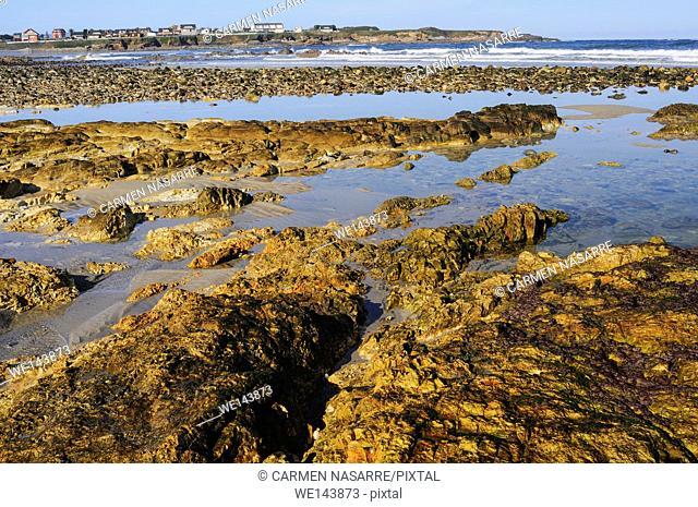 Low tide in San Miguel de Reinante beach, Lugo
