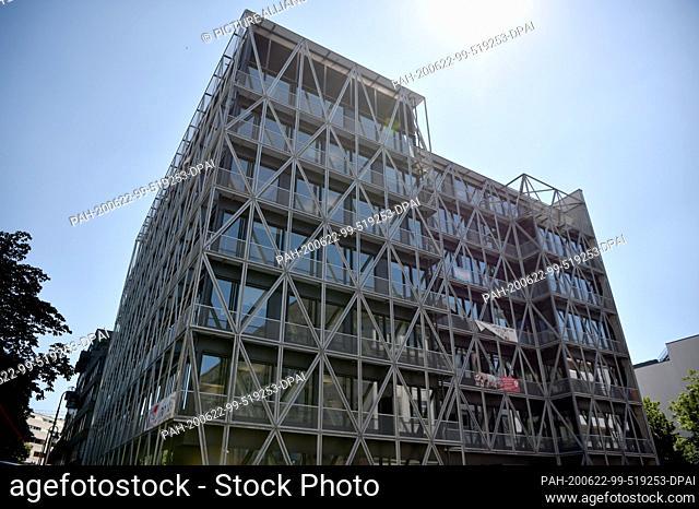 "22 June 2020, Berlin, 12487: The """"taz"""" building in Berlin-Mitte. Photo: Sven Braun/dpa. - 12487/Berlin/Germany"