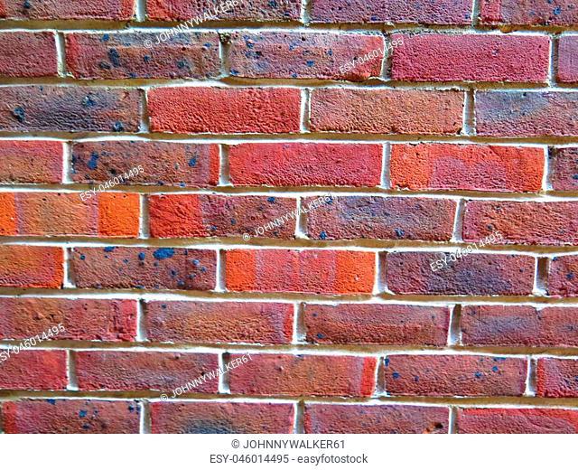 Closeup of brick build wall in english town