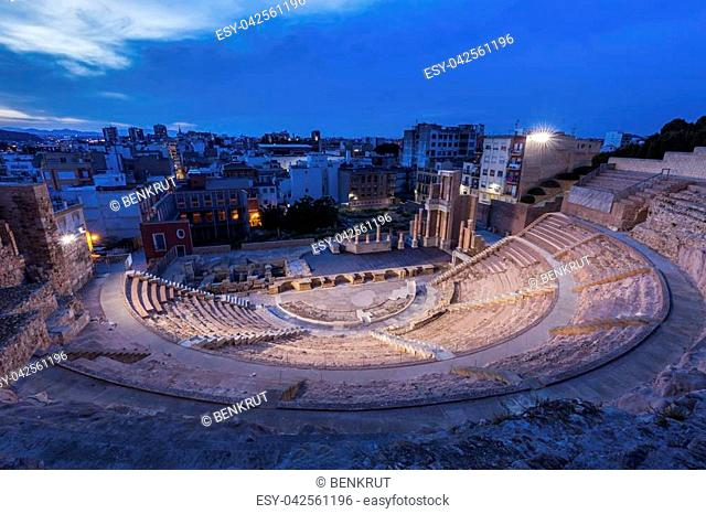 Roman Theatre in Cartagena. Cartagena, Murcia, Spain