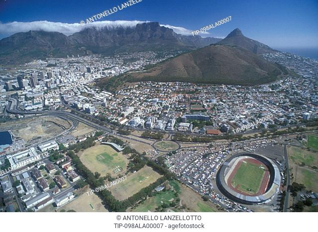 South Africa, Capetown, Signal Hill and Table Mountain