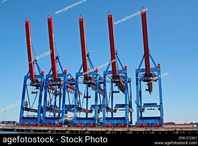 Hamburger Hafen, Hafen Hamburg, Burchardkai, Container-Terminal