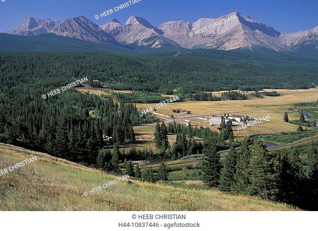 Canada, North America, America, Rocky Mountain front near Crowsnest pass, Alberta, landscape, mountains, mountain, con