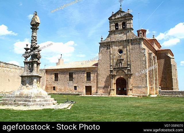 Soria city, Nuestra Señora del Miron Hermitage and San Saturio monument (baroques 18th century). Castilla y Leon, Spain