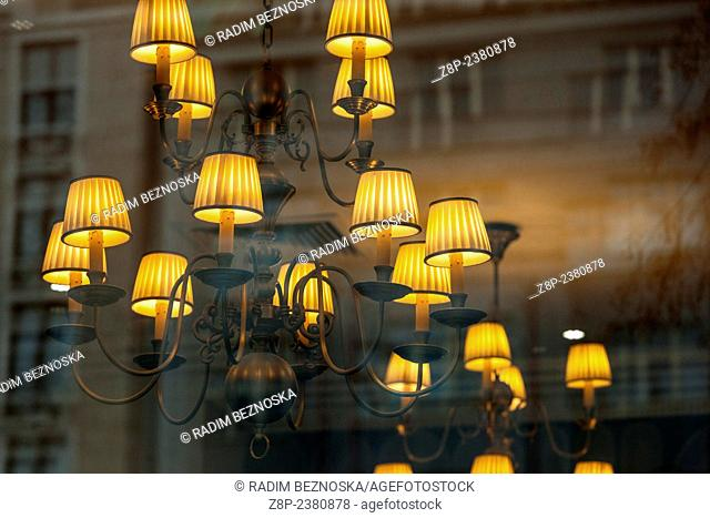 Close Up of Lighting fixture with Lamp shade