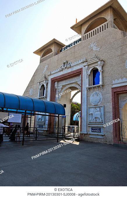 Entrance of a temple, Shri Shaneshwar Devasthan, Shani Shingnapur, Ahmednagar, Maharashtra, India