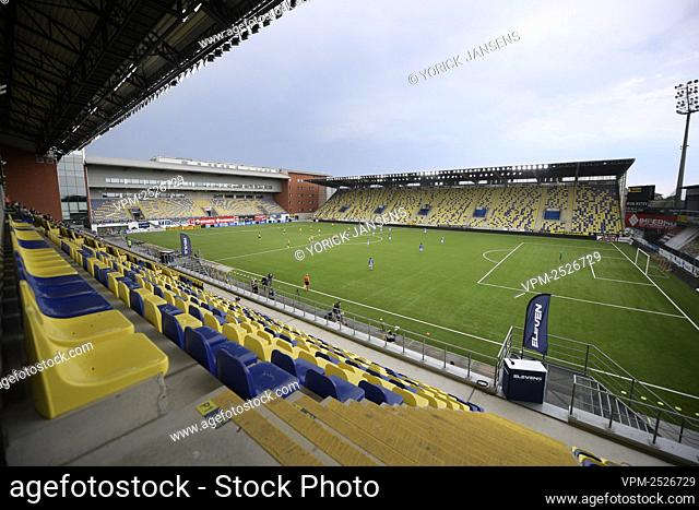 Illustration picture shows the empty seats at the Stayen stadium during the Jupiler Pro League match between STVV and KAA Gent, in Sint-Truiden