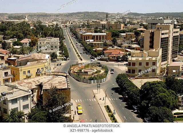 Africa,Eritrea,Asmara,view