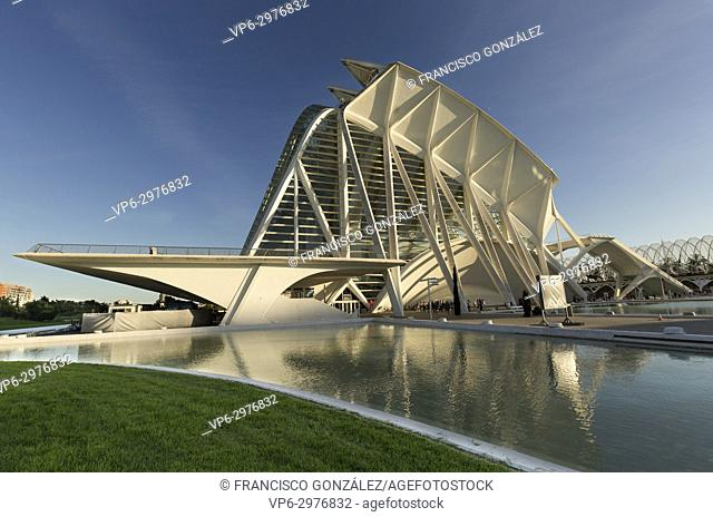 Valencia, Spain. October 25, 2017: The Prince Felipe Science Museum a Spanish museum dedicated to science, technology and the environment