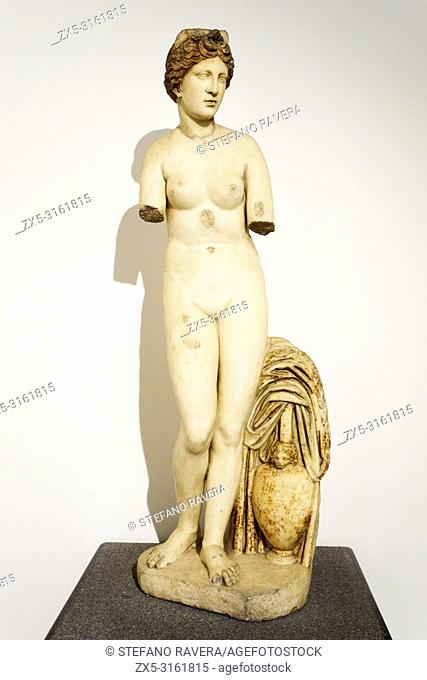 A statue of the capitoline type Aphrodite - National Roman Museum - The Baths of Diocletian - Rome, Italy