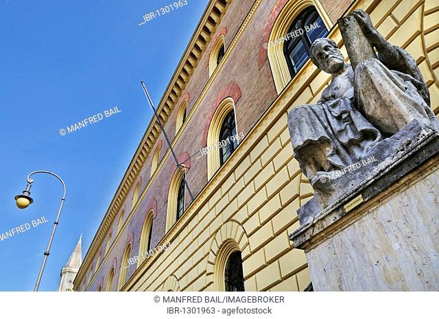Greek historian Thucydides in front of the Bavarian State Library, Munich, Bavaria, Germany, Europe