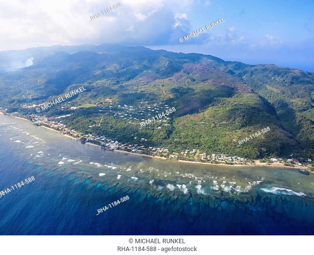 Aerial of Futuna, Wallis and Futuna, South Pacific, Pacific