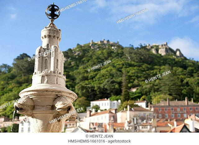 Portugal, Estramadura, Sintra, listed on UNESCO World Heritage, town view