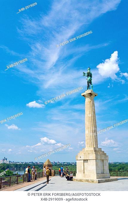 Pobednik, The Victor, victory column, Kalemegdan park, Belgrade, Serbia
