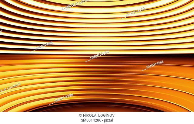 Horizontal orange curved panels illustration backgroundhd