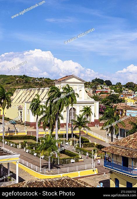 Plaza Mayor, elevated view, Trinidad, Sancti Spiritus Province, Cuba