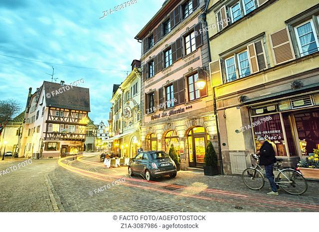Colmar city center. Alsace. Grand Est. France.