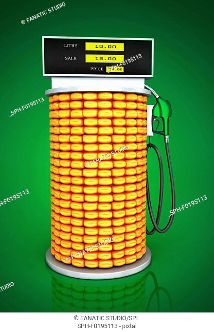 Illustration of corn fuel pump