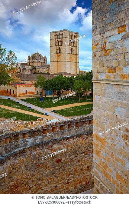 Zamora Cathedral in Spain by Via de la Plata way to Santiago