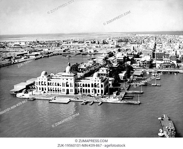 Jan. 1, 1956 - Port Said, Egypt - Suez Crisis also called Suez-Sinai War was the Israel-Egypt encounter at the end of October and the beginning of November 1956