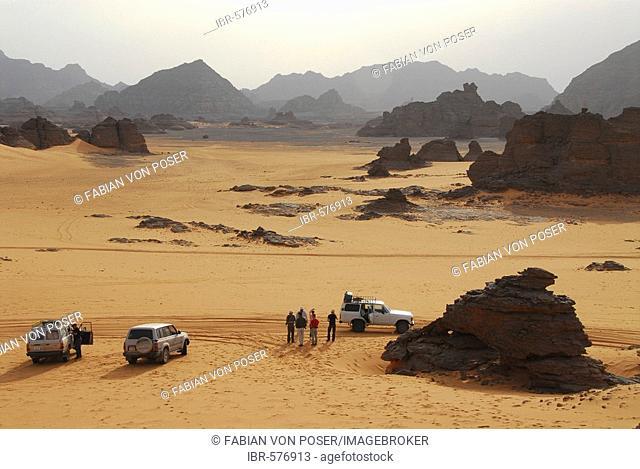 Typical rock formation, Akakus mountains, Libya