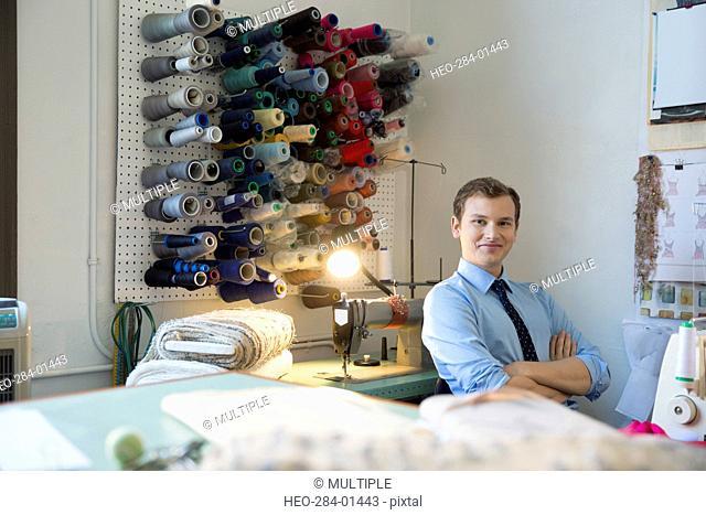 Portrait confident dressmaker