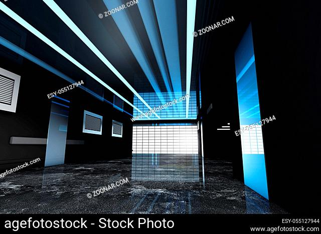3D rendered Illustration of a industrial interior