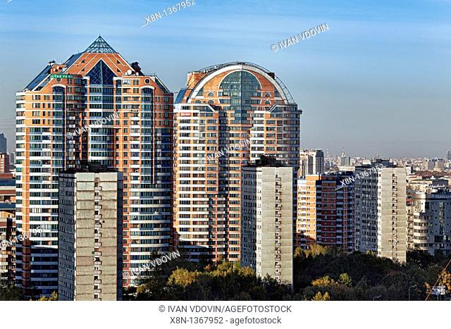 Apartment buildings, Moscow, Russia