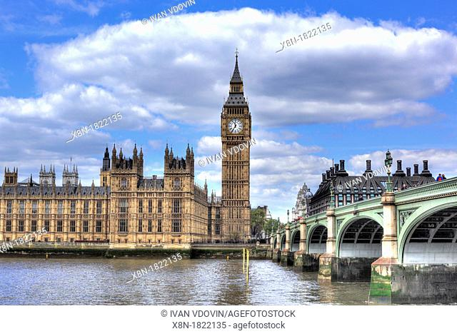 The Palace of Westminster and Big Ben Houses of Parliament, London, UK