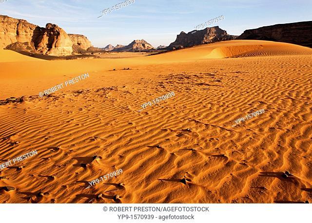 Sand dunes in the Akakus Mountains, Sahara Desert, Libya