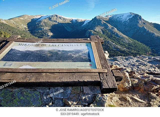 Canchas viewpoint at The Barranca. Sierra de Guadarrama. Navacerrada. Madrid. Spain. Europe