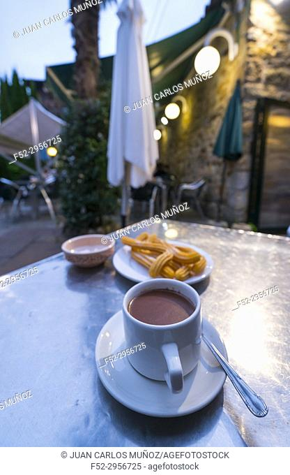 Chocolate con Churros, Liérganes, Miera Valley, Valles Pasiegos, Cantabria, Spain, Europe