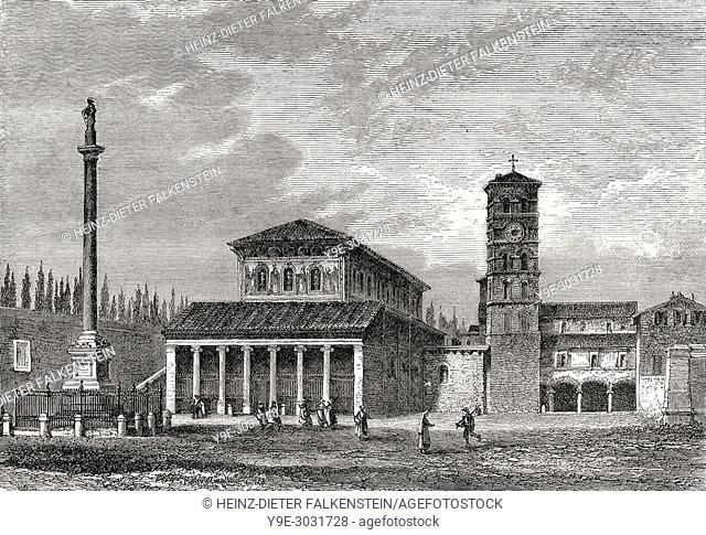 San Lorenzo fuori le mura, Rome, Italy, 19th Century