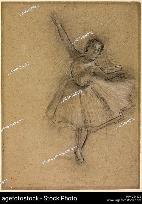 Dancer Turning - c. 1876 - Edgar Degas French, 1834-1917 - Artist: Hilaire Germain Edgar Degas, Origin: France, Date: 1871–1880, Medium: Charcoal