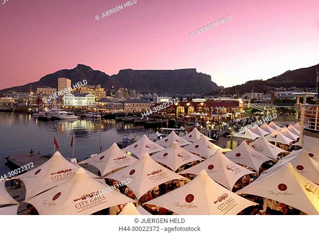 south africa cape town, Victoria Albert waterfront, sunset, table mountain