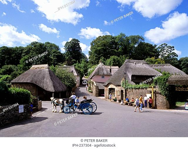 Horse and carriage rides in the picturesque village of Cockington near Torquay