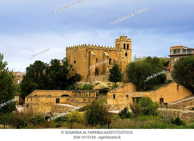 Outskirts of Fabara with the Church of San Juan Bautista.The construction starts at the beginning of the XIII century, with a principal door of romanesque...