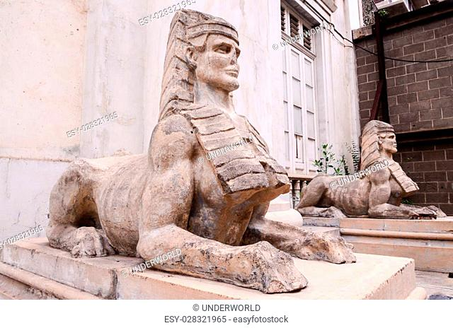 Sphinx of the Old Masonry Temple in Tenerife Canary Islands