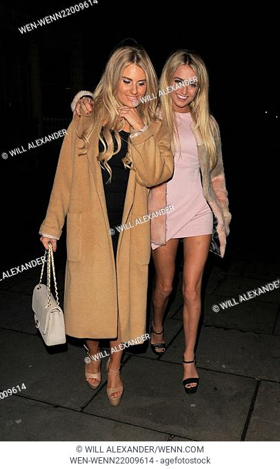 'The Only Way Is Essex' cast attend the Christmas wrap party Featuring: Danielle Armstrong, George Harrison Where: London