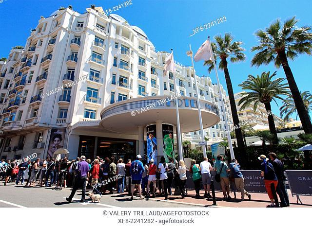 Cannes and the Croisette during the film festival, Alpes-Maritimes, Provence-Alpes-Côte d'Azur, France