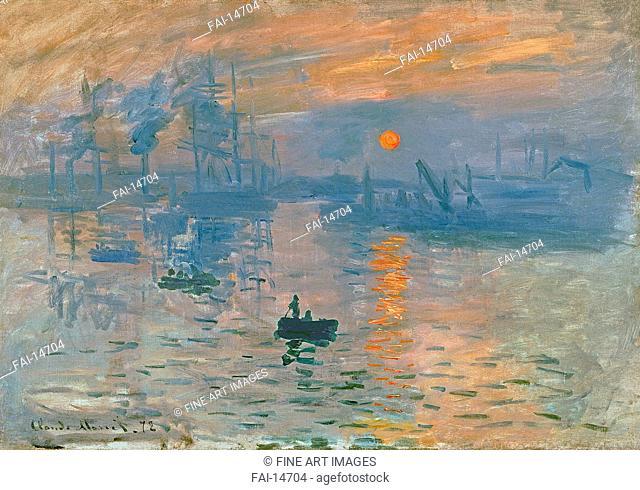 Impression, Sunrise (Impression, soleil levant). Monet, Claude (1840-1926). Oil on canvas. Impressionism. 1872. France. Musée Marmottan Monet, Paris