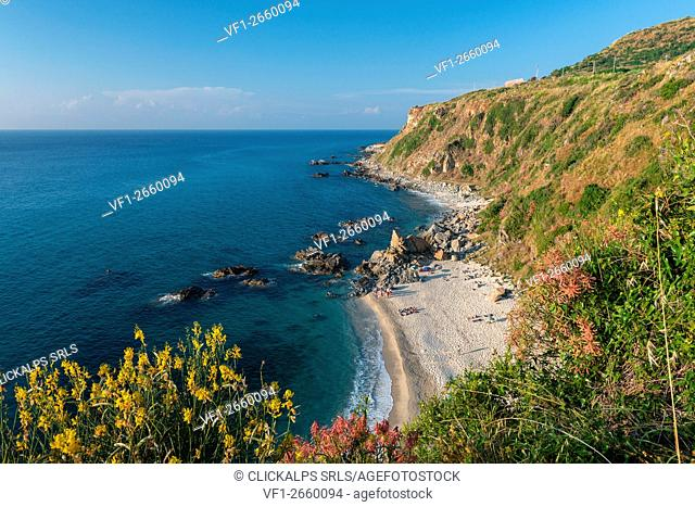 Zambrone, Vibo Valentia, Calabria, Italy. The beach of Capo Cozzo in Zambrone