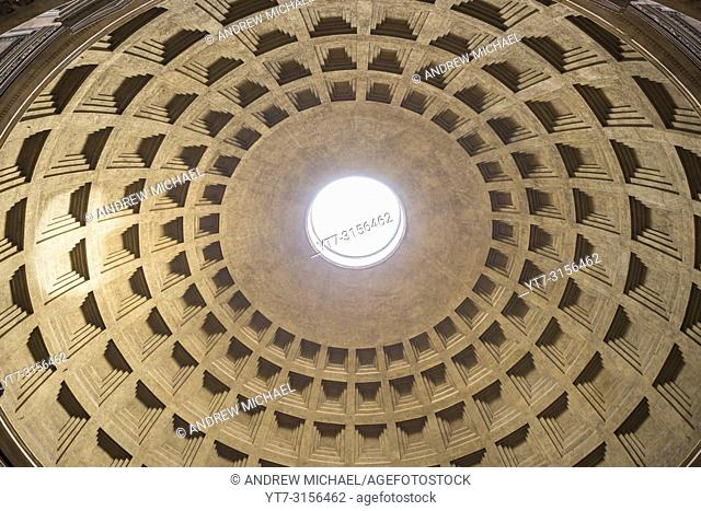 The Pantheon is a former Roman temple, now a church, in Rome, Italy. Interior detail and art work