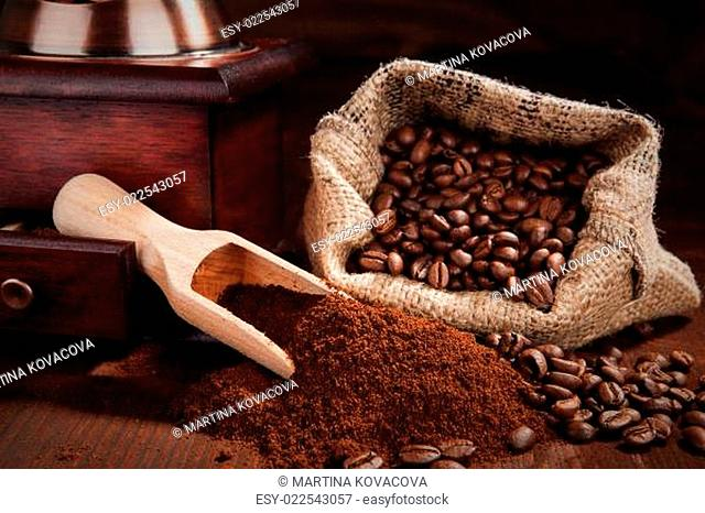Traditional coffee background