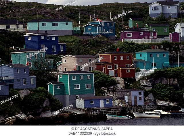 A view of Rose Blanche fishing village, Channel-Port aux Basques, Newfoundland, Canada